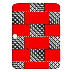 Black And White Red Patterns Samsung Galaxy Tab 3 (10 1 ) P5200 Hardshell Case
