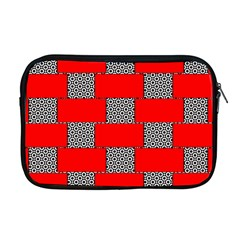Black And White Red Patterns Apple Macbook Pro 17  Zipper Case