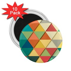 Background Geometric Triangle 2 25  Magnets (10 Pack)