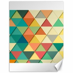 Background Geometric Triangle Canvas 18  X 24  by Simbadda