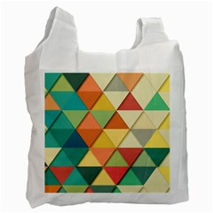 Background Geometric Triangle Recycle Bag (one Side)