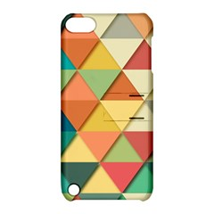 Background Geometric Triangle Apple Ipod Touch 5 Hardshell Case With Stand by Simbadda