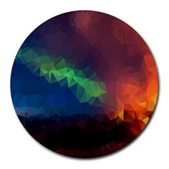 Abstract Texture Background Round Mousepads
