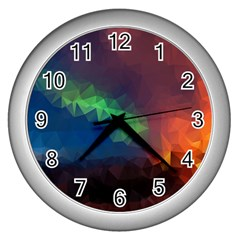 Abstract Texture Background Wall Clock (silver)