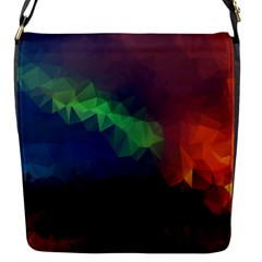 Abstract Texture Background Flap Closure Messenger Bag (s)