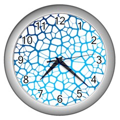 Network Social Neurons Brain Cells Wall Clock (silver)