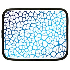 Network Social Neurons Brain Cells Netbook Case (large) by Simbadda