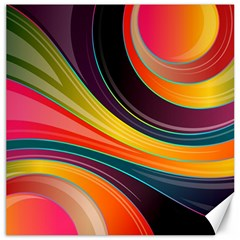 Abstract Colorful Background Wavy Canvas 20  X 20