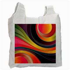 Abstract Colorful Background Wavy Recycle Bag (one Side)