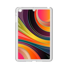 Abstract Colorful Background Wavy Ipad Mini 2 Enamel Coated Cases by Simbadda