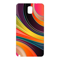 Abstract Colorful Background Wavy Samsung Galaxy Note 3 N9005 Hardshell Back Case by Simbadda