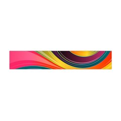 Abstract Colorful Background Wavy Flano Scarf (mini)