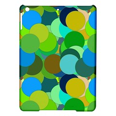 Green Aqua Teal Abstract Circles Ipad Air Hardshell Cases