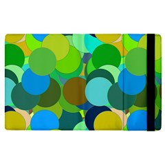 Green Aqua Teal Abstract Circles Apple Ipad Pro 9 7   Flip Case by Simbadda