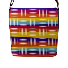 Background Abstract Flap Closure Messenger Bag (l)