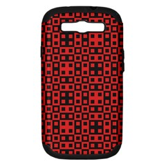 Abstract Background Red Black Samsung Galaxy S Iii Hardshell Case (pc+silicone)