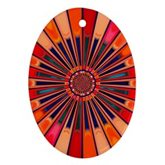 Color Background Structure Lines Ornament (oval)