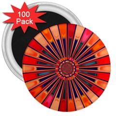 Color Background Structure Lines 3  Magnets (100 Pack)