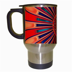 Color Background Structure Lines Travel Mugs (white) by Simbadda