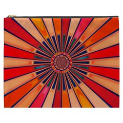 Color Background Structure Lines Cosmetic Bag (xxxl)