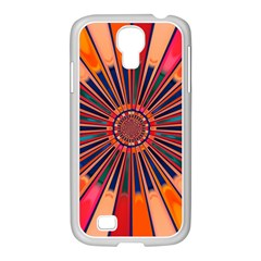 Color Background Structure Lines Samsung Galaxy S4 I9500/ I9505 Case (white) by Simbadda