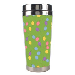 Balloon Grass Party Green Purple Stainless Steel Travel Tumblers by Simbadda