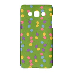 Balloon Grass Party Green Purple Samsung Galaxy A5 Hardshell Case  by Simbadda