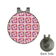 Background Abstract Square Hat Clips With Golf Markers