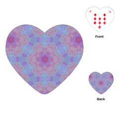 Pattern Pink Hexagon Flower Design Playing Cards (heart) by Simbadda