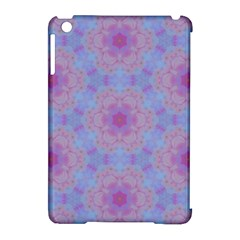 Pattern Pink Hexagon Flower Design Apple Ipad Mini Hardshell Case (compatible With Smart Cover) by Simbadda