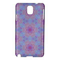 Pattern Pink Hexagon Flower Design Samsung Galaxy Note 3 N9005 Hardshell Case by Simbadda