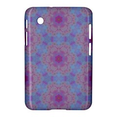 Pattern Pink Hexagon Flower Design Samsung Galaxy Tab 2 (7 ) P3100 Hardshell Case  by Simbadda