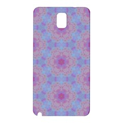 Pattern Pink Hexagon Flower Design Samsung Galaxy Note 3 N9005 Hardshell Back Case by Simbadda