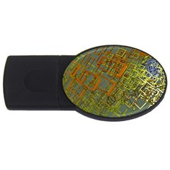 Art 3d Windows Modeling Dimension Usb Flash Drive Oval (2 Gb)