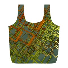Art 3d Windows Modeling Dimension Full Print Recycle Bag (l)