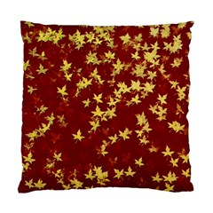 Background Design Leaves Pattern Standard Cushion Case (two Sides) by Simbadda