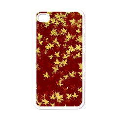 Background Design Leaves Pattern Apple Iphone 4 Case (white)
