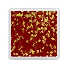 Background Design Leaves Pattern Memory Card Reader (square) by Simbadda