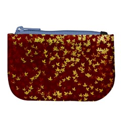 Background Design Leaves Pattern Large Coin Purse by Simbadda