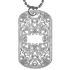 Grolier Antique Scroll Fruit Dog Tag (one Side) by Simbadda