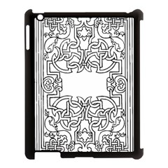 Grolier Antique Scroll Fruit Apple Ipad 3/4 Case (black) by Simbadda