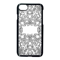 Grolier Antique Scroll Fruit Apple Iphone 8 Seamless Case (black)