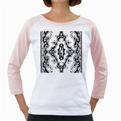 Holbein Floriated Antique Scroll Girly Raglan