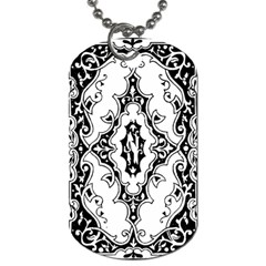 Holbein Floriated Antique Scroll Dog Tag (one Side) by Simbadda
