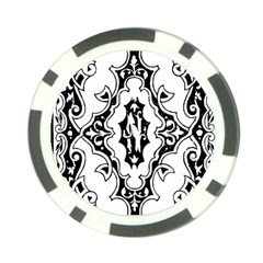 Holbein Floriated Antique Scroll Poker Chip Card Guard by Simbadda