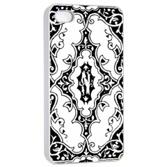 Holbein Floriated Antique Scroll Apple Iphone 4/4s Seamless Case (white)
