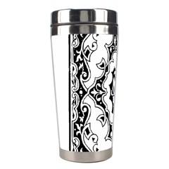 Holbein Floriated Antique Scroll Stainless Steel Travel Tumblers