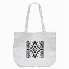 Holbein Floriated Antique Scroll Tote Bag (white) by Simbadda