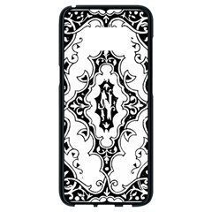 Holbein Floriated Antique Scroll Samsung Galaxy S8 Black Seamless Case