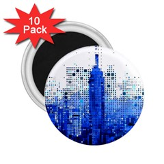 Skyline Skyscraper Abstract Points 2 25  Magnets (10 Pack)
